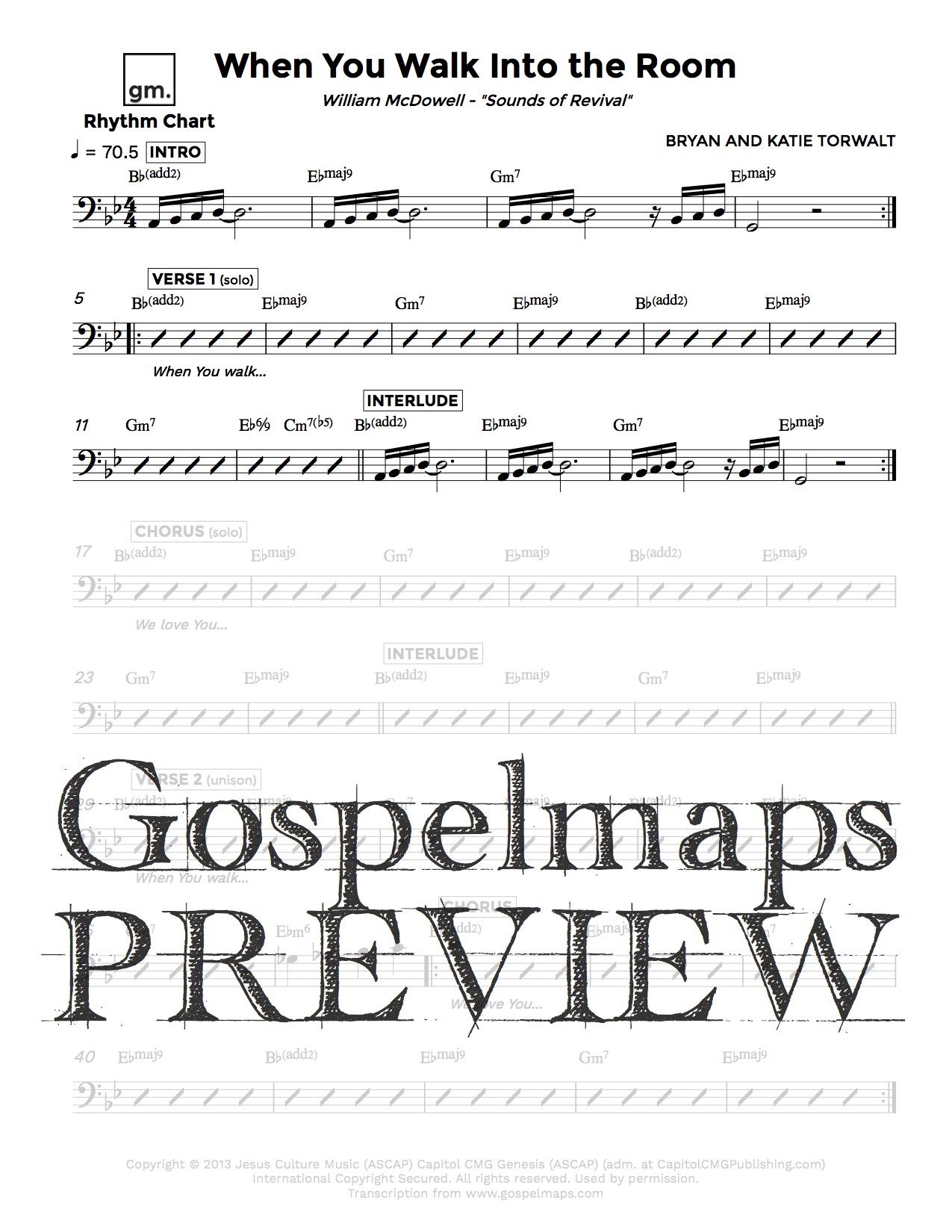 Gospelmaps   When You Walk Into the Room   William McDowell ...