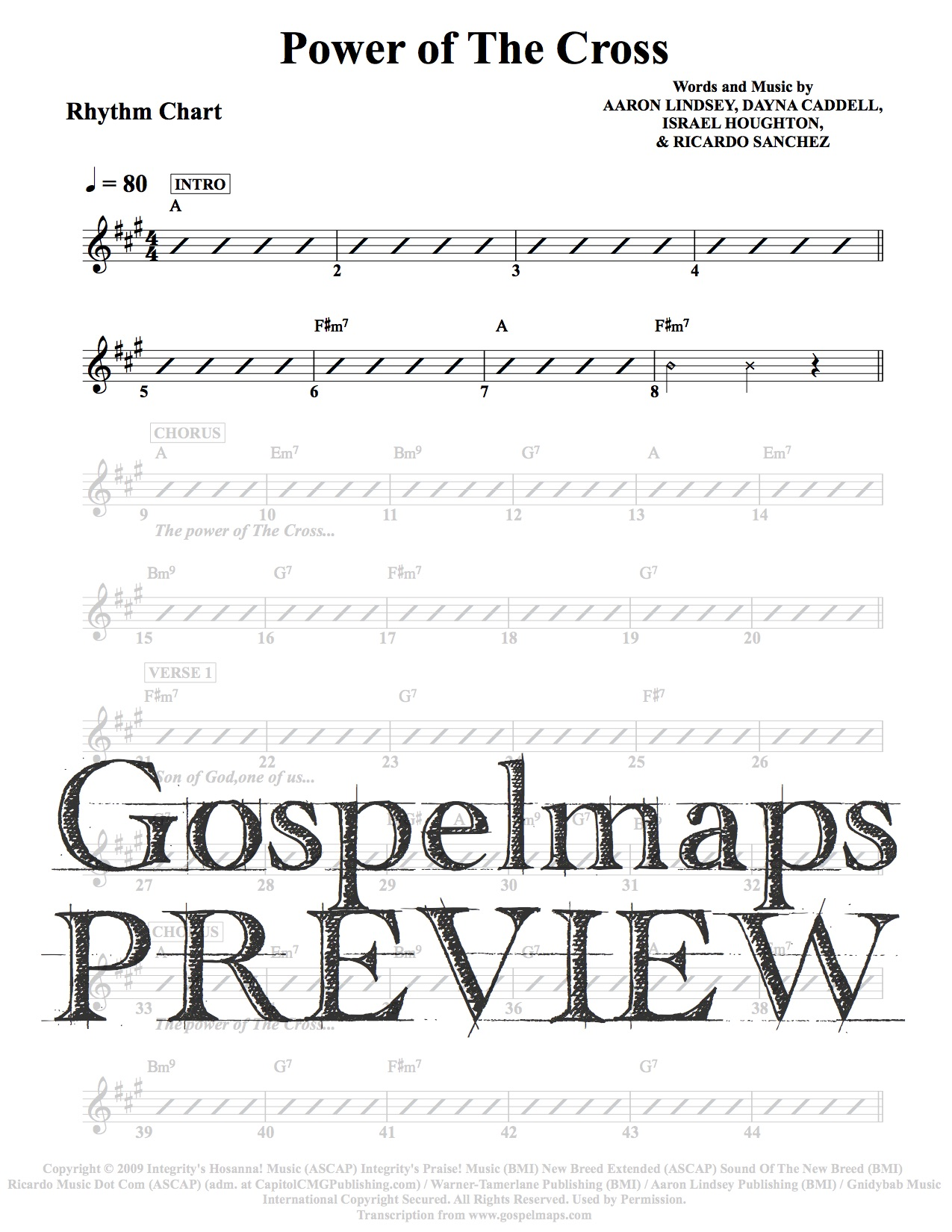 Gospelmaps Power Of The Cross Free Chapel Rhythm