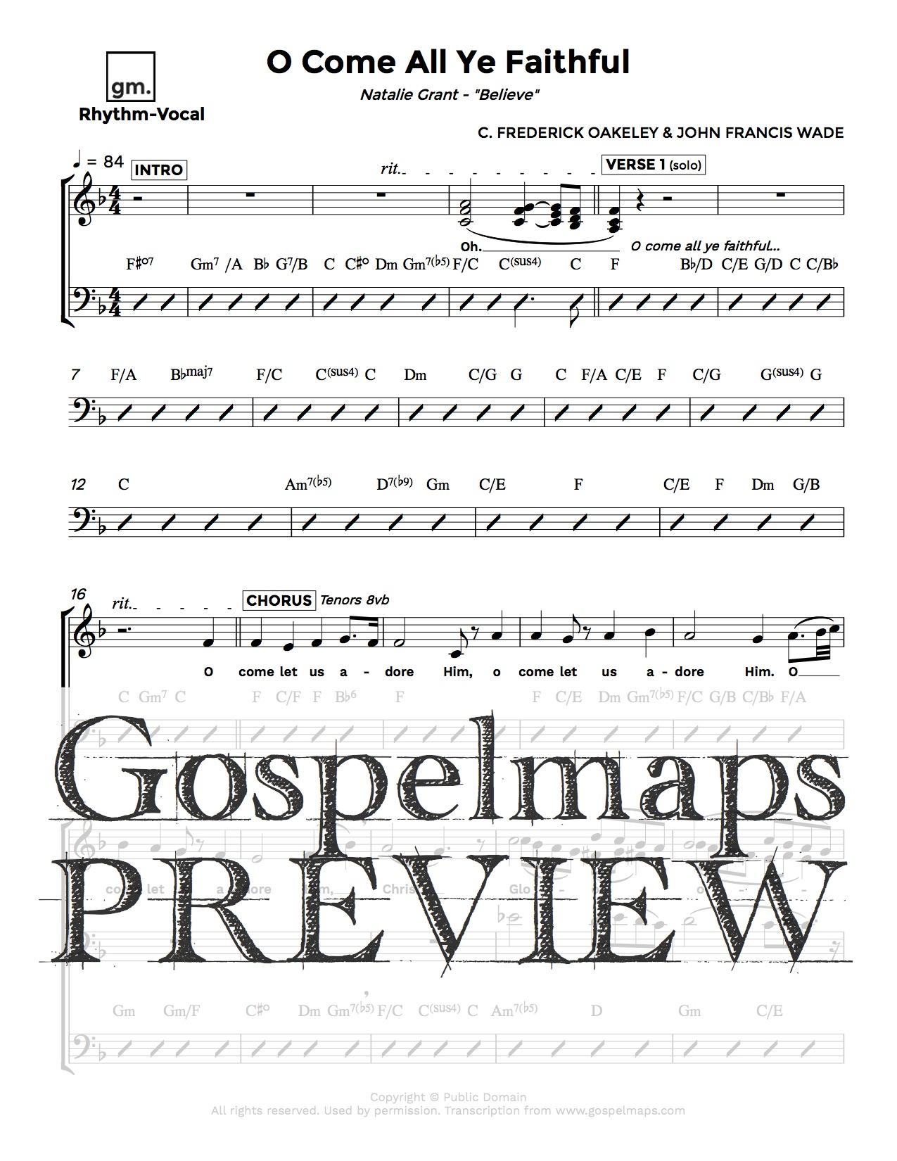 Gospelmaps o come all ye faithful natalie grant rhythm previous next description download sheet music for o come all ye faithful by natalie hexwebz Image collections