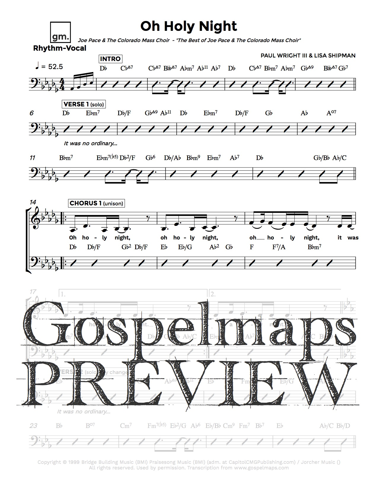 Gospelmaps oh holy night joe pace rhythm vocal and chord gospelmaps oh holy night joe pace rhythm vocal and chord chartsgospelmaps rhythm vocal and chord charts hexwebz Choice Image