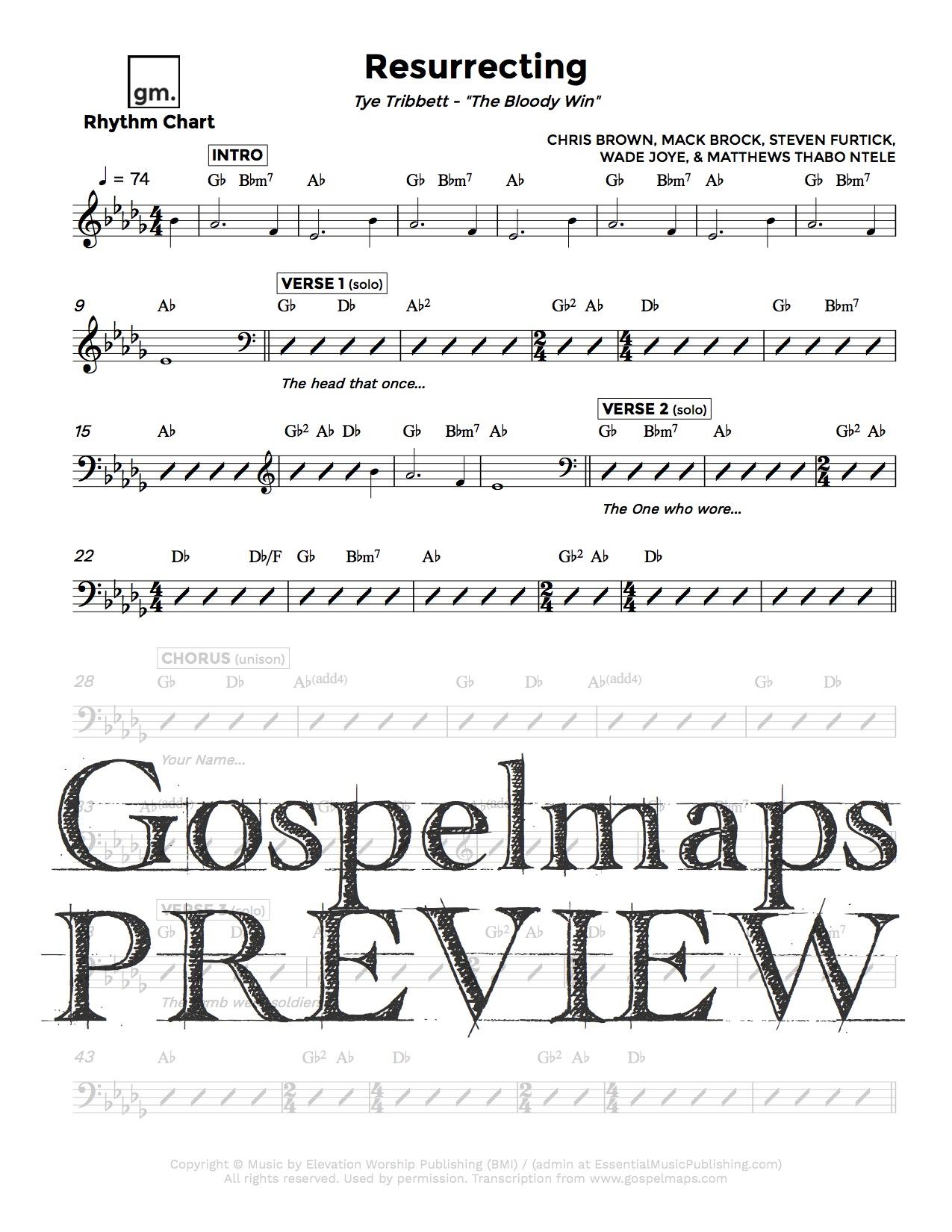 Gospelmaps Resurrecting Tye Tribbett Rhythm Vocal And Chord