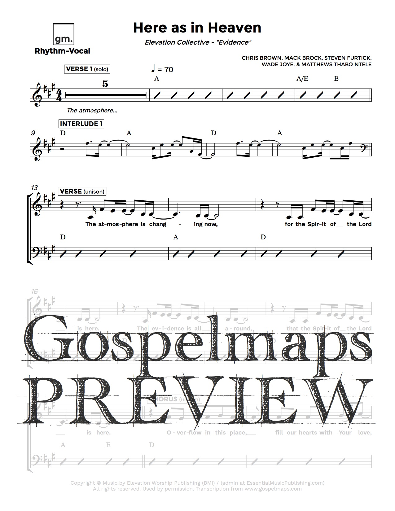 Gospelmaps | Here as in Heaven - Elevation Collective