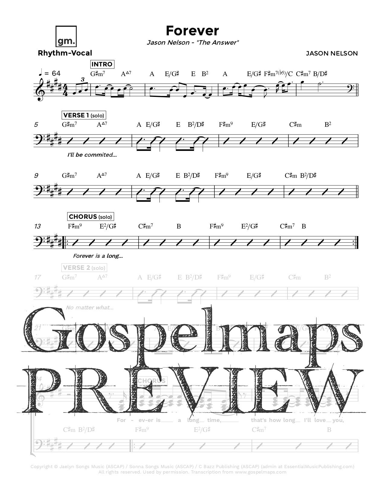 Gospelmaps Forever Jason Nelson Rhythm Vocal And